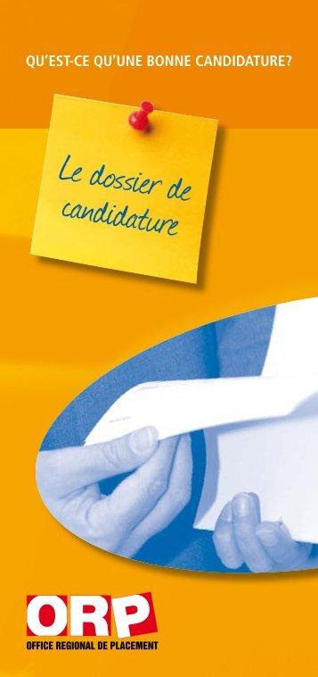 Le dossier de candidature - Espace emploi