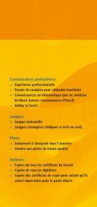 Le dossier de candidature - Espace emploi - Page 6