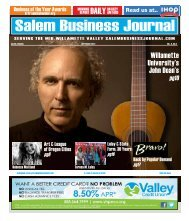 Sep 2012 - Salem Business Journal