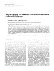Cross-Layer Design and Analysis of Downlink Communications in ...