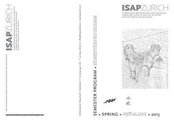 (STUDENT Spring 2013 complete program (24.11.12 ... - isapzurich