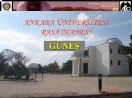 GÜNEŞ - Ankara Üniversitesi Gözlemevi