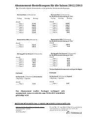 Abonnement-Bestellcoupon für die Saison 2012/2013 - Tonhalle