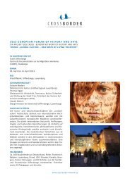 2013 EUROPEAN FORUM OF HISTORY AND ARTS - Cross Border Network
