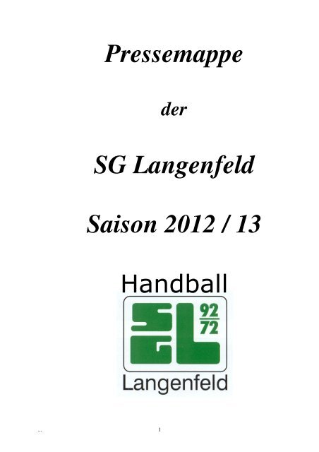 Spielerdaten - SG Langenfeld