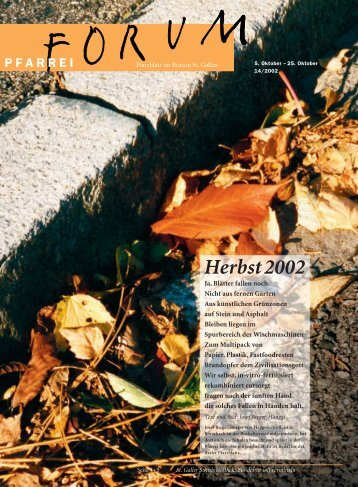 Herbst2002 - Pfarreiforum