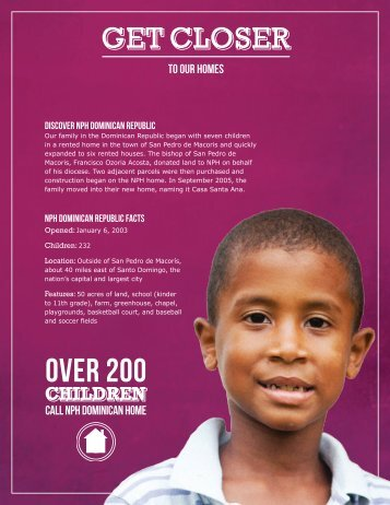 NPH Dominican Republic Fact Sheet - Friends of the Orphans