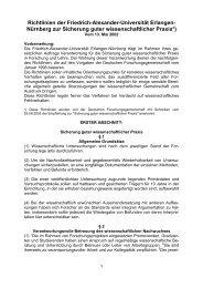 Regeln guter wissenschaftlicher Praxis - Friedrich-Alexander ...