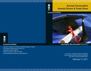 Annual Convocation Awards Dinner & Trade Show - Insurance ...