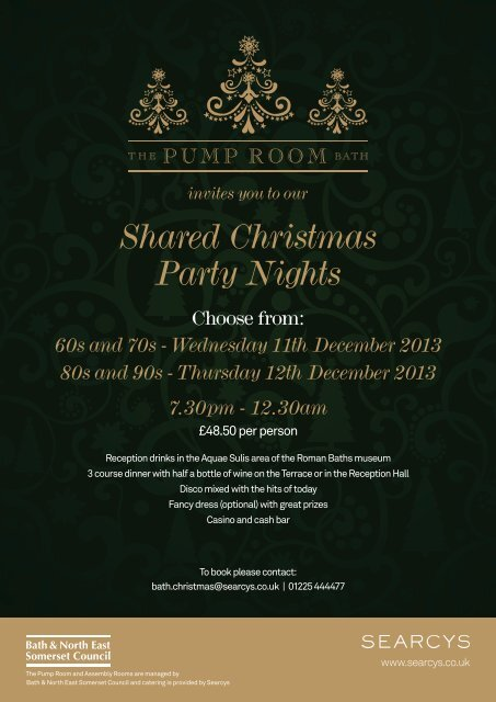 Shared Christmas Party Nights - the Roman Baths