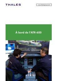 À bord de l'ATR-600 - Thales Group