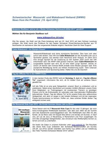 FSSW Fédération Suisse de Ski nautique et Wakeboard
