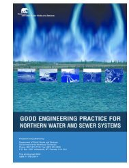 Good Engineering Practice for Northern Water and Sewer Systems