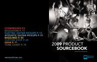 2009 PRODUCT SOURCEBOOK - Seymour Duncan
