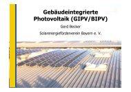 Gebäudeintegrierte Photovoltaik (GIPV/BIPV)