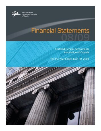 Financial Statements 2008-2009 - Certified General Accountants ...