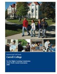 Institutional Self Study - Carroll University