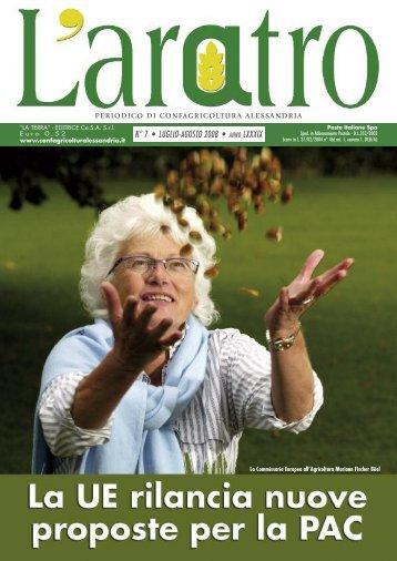 n° 7 • luglio-agosto 2008 • anno lxxxix - Confagricoltura Alessandria