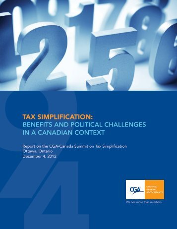 Tax Simplifications - Certified General Accountants Association of ...