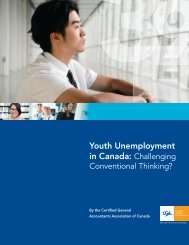 Youth Unemployment in Canada: Challenging Conventional ...