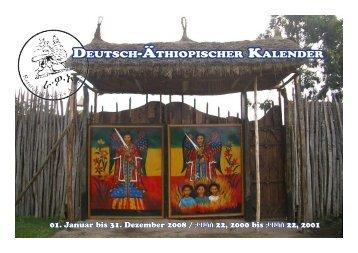 Deutsch-Äthiopischer KalenDer - RastafarI Works Association