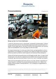 Femern A/S: Mange nye ideer til en Femern Bælt-region