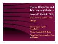 Stress, Resources and Intervention Strategy - Bristol-Myers Squibb