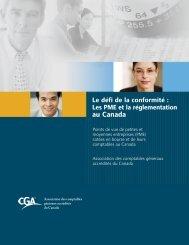 Les PME et la réglementation au Canada - Certified General ...
