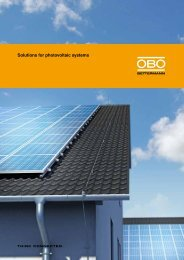 Solutions for photovoltaic systems - OBO Bettermann