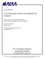 A Jet Formation Criterion for Synthetic Jet Actuators - George ...