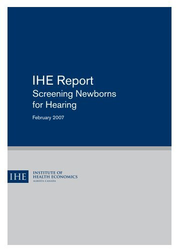 Screening newborns for hearing - Institute of Health Economics