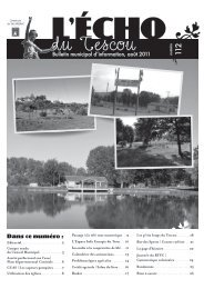 Bulletin municipal d'information, août 2011 Dans ... - OPI des Tescou's