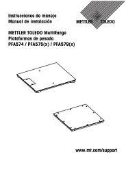 PFA579(x) - Mettler Toledo