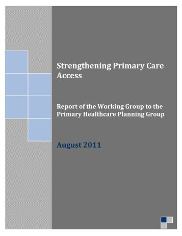 Strengthening Primary Care Access - Trillium Research Day