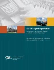 Où est l'argent aujourd'hui? - CGA-Canada Public Practice Manual