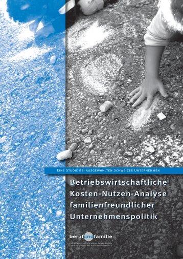 Betriebswirtschaftliche Kosten-Nutzen-Analyse familienfreundlicher ...