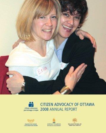 2008 annual report - Citizen Advocacy