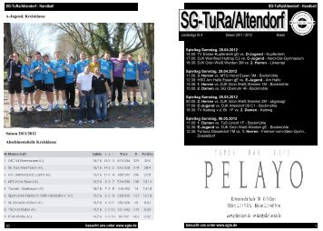 Euro pro Saison und Fel - SG TuRa Altendorf