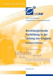 Rahmenrichtlinien - Deutsche Gesellschaft für Gruppendynamik und ...