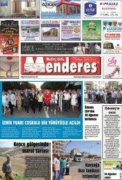 30 Ağustos tarihli Küçükmenderes Gazetesi