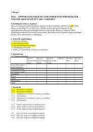 Vedlegg 6: Mal – oppfølgingsskjema for forskningsprosjekter (pdf)