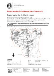 Reguleringsplan for småhusområder i Oslos ytre by ...