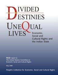 Divided Destinies, Unequal Lives - PWESCR