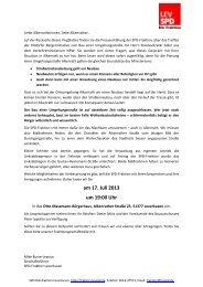 Einladung Bürgerversammlung - SPD-Fraktion im Rat der Stadt ...