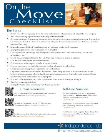 Printable Moving Checklist And Planner  Squawkfox