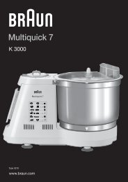 Multiquick 7 - Braun Consumer Service spare parts use instructions ...