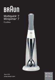 Multiquick® 7 Minipimer® 7 - Braun Consumer Service spare parts ...