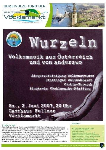 Gemeindezeitung Juni 2007 (0 bytes) - Vöcklamarkt