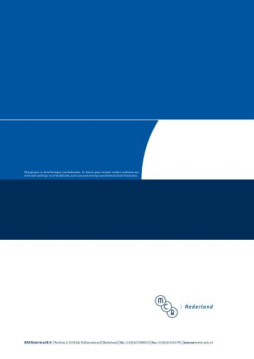 Nederland|Tel.+31(0)40 2088333|Fax+31(0) - MCB Nederland B.V.