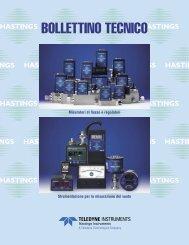Strumenti per la misura - Teledyne Hastings Instruments